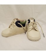 Shoes Soft Sole Toddler Cream Blue Green Size 24 Months 2T Boys BT Kids ... - $10.89