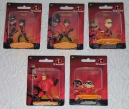 *Set Of 5* The Incredibles Mini Action Figures Collectible by Disney & P... - $18.78