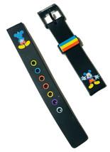 Disney Mickey Mouse Tri-Colore 14mm Gomma Nera Ricambio Cinturino Nuovo