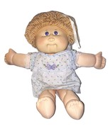 Cabbage Patch Kids 25th Anniversary Blond Curly Looped Hair Blue Dress Doll - $69.99