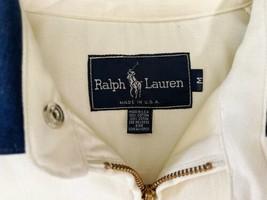 Vintage Beige Ralph Lauren Windbreaker Zip Jacket USA Made Sz Medium M image 2