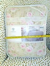 Simply Shabby Chic Duchess Blossom Twin COMFORTER Set Pink Tan  Cottage Floral image 8