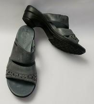 Merrell Shoes Sandals Blue Slides Heels Slip On Womens Size US 7 EU 38 - $56.38