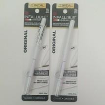 L'Oreal Infallible Never Fail Mechanical Eyeliner Lot of 2 Original 551 White - $12.50