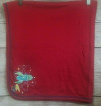 Vintage Gymboree Baby Blanket Space Rocketships Stars Out of Sight 1999 Rare - $126.09
