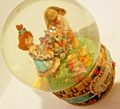 "San Francisco Music Box Company Snow Globe ""A Basket of Wishes For You"" ... - $13.05"