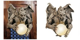 Gargoyle Lighted Wall Sculpture Lamp/Light Fixture Gothic Medieval Decor - $169.53