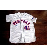 TOM SEAVER 69 NEW YORK MET'S SIGNED AUTO QUALITY FLANNEL METS JERSEY JSA... - $593.99