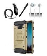 Samsung Galaxy S8 Plus Gold Tactical Hybrid Armor Dual Layer Case w/ Hol... - $13.99