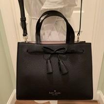 NWT Kate Spade Hayes Small Satchel Crossbody Leather Bag Black WKRU5775  - $238.49 CAD