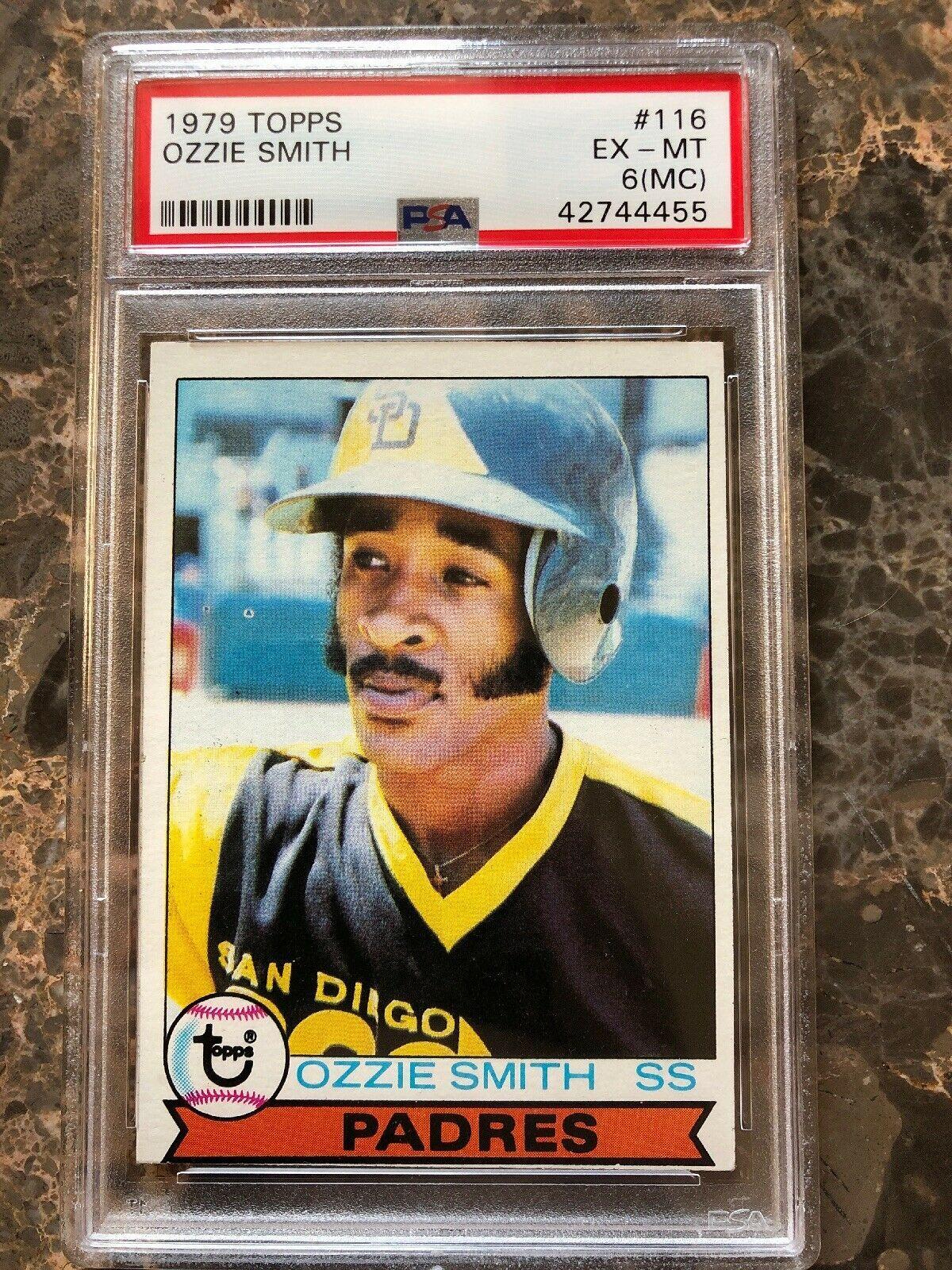 Ozzie Smith 1979 Topps 116 Psa 6 Rookie Card Mc Miss Cut