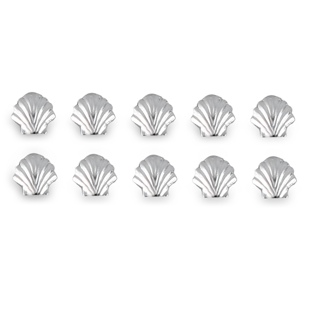 Primary image for Nail Art Metal Shell Manicure Alloy(5MM SILVER SHELL SHAPE)