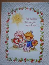 Vintage American Greetings Strawberry Shortcake Friendship Card - $6.99