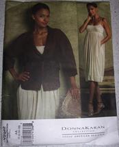 Vogue Donna Karan Misses Jacket Belt & Dress  Size 8-12 #V2942 Uncut - $14.99