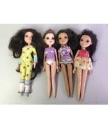 MGA Moxie Girlz Dolls Big Eyes Brown Hair Lot Of 4 Retired Discontinued - $28.04