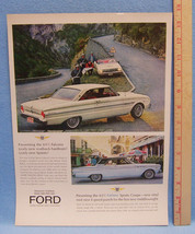 Vintage Magazine Ad for Ford Motor Presenting Fairlane Sports Coupe Vinyl Roof - $5.93