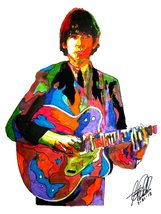 "George Harrison, The Beatles, Guitar, Vocals, Rock & Roll, 18""x24"" Art P... - $19.99"