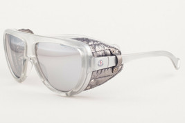 Moncler ML0089 20C Silver Leather / Gray Mirror Sunglasses ML 89 20C 57mm - $197.01