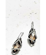NEW David Yurman Marquise Pave Diamonds and Smoky Topaz Cable Wrap Drop ... - $1,450.00