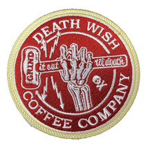 Death Wish Coffee Company Sew On Iron On Patch Grind It Out Labor Day 2018  - $5.94