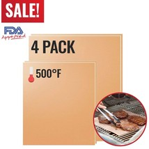 Set 4 Copper Grill Mat BBQ Pad Non Stick Barbecue Mat Cooking Chef Bake ... - €9,25 EUR