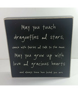 Collins Wood Sign 7in Inspirational Dragonflies Stars Loved You Are Plaq... - $19.99