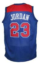 Michael Jordan #23 Baltimore Washigton Retro Basketball Jersey New Blue Any Size image 2