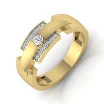 14k Solid Yellow Gold Unique Anniversary Band For Women Gift For Her - $475.74