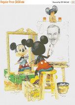 "Counted Cross Stitch  Mickey's  portrait 12.50""X16.79"" L904 - $3.99"