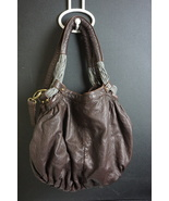 Deux Lux Medium/Large Chocolate Brown Soft Faux Leather Hangbag/Crossbod... - $19.61
