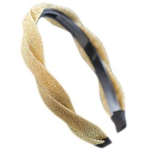 Fashion Headband Toothed Antiskid Hair Hoop Hair Accessories(Champagne)