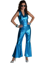 70's Mama Mia Jumpsuit - Electric Blue , XL size 18 - $39.43