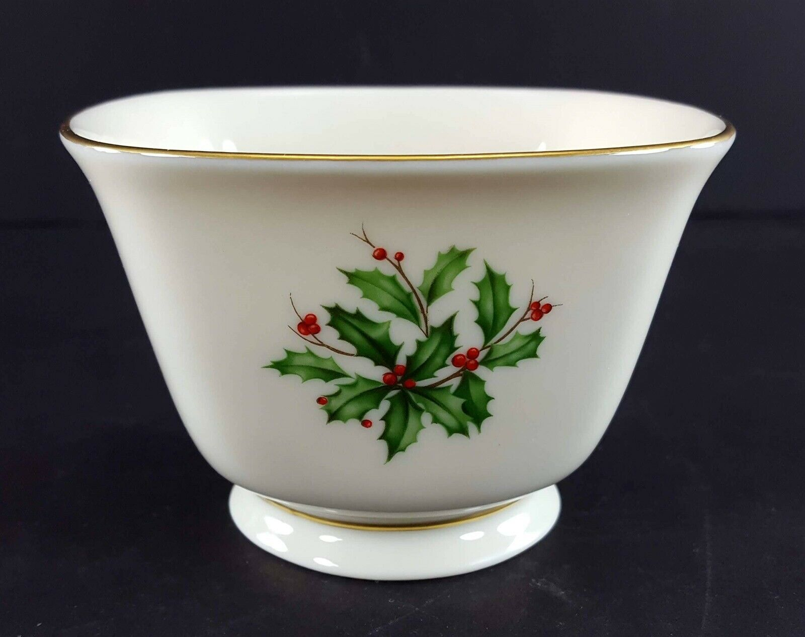 "LENOX China Holiday Dimension Treat Bowl Candy/Nuts 4-1/4"" Dinnerware"