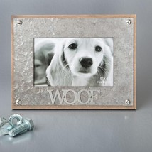 gifts by fashioncraft industrial style metal frame 4 x 6 - WOOF  - $16.99