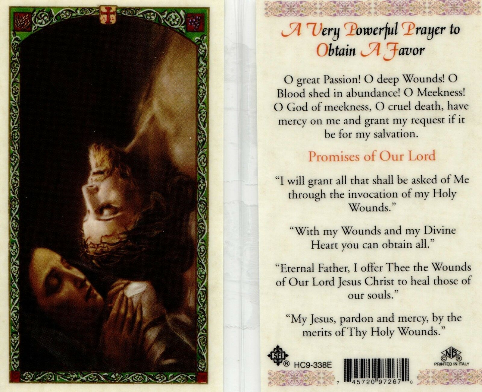 Primary image for A Very Powerful Prayer to Obtain a Favor Laminated Card - EB041 - Top Sellers