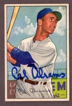 1952 Bowman #86 CAL ABRAMS Autographed Baseball Card- Brooklyn Dodgers  - $36.58