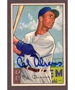 1952 Bowman #86 CAL ABRAMS Autographed Baseball Card- Brooklyn Dodgers  - $36.58