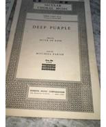 Secular Choral Musik Deep Purple Peter De Rose Drei Teil Ssa - $22.18