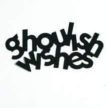 Word Ghoulish Wishes Cutouts Plastic Shapes Confetti Die Cut FREE SHIPPING - £5.31 GBP