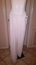 Carmen Marc Valvo White Polyester Wide Leg Pant... - $18.48