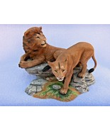 LENOX  WILDLIFE OF THE SEVEN  CONTINENTS  AFRICA  LIONS FIGURINE      VERY NICE - $29.65