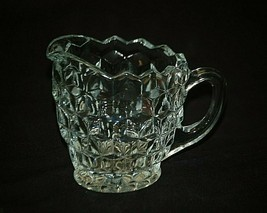 Old Vintage Whitehall Clear by Colony Milk Creamer Stacked Cubed Design - $14.84