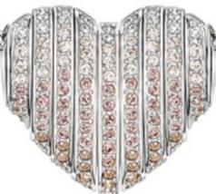Swarovski Crystal Authentic Pendant Necklace Heart EXPLORE Signed Reversible image 2