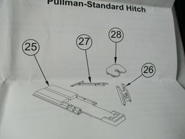 Walthers Proto Stock # 920-6060 Trailer Hitch Accessory Pack PS & ACF Hitches HO image 5