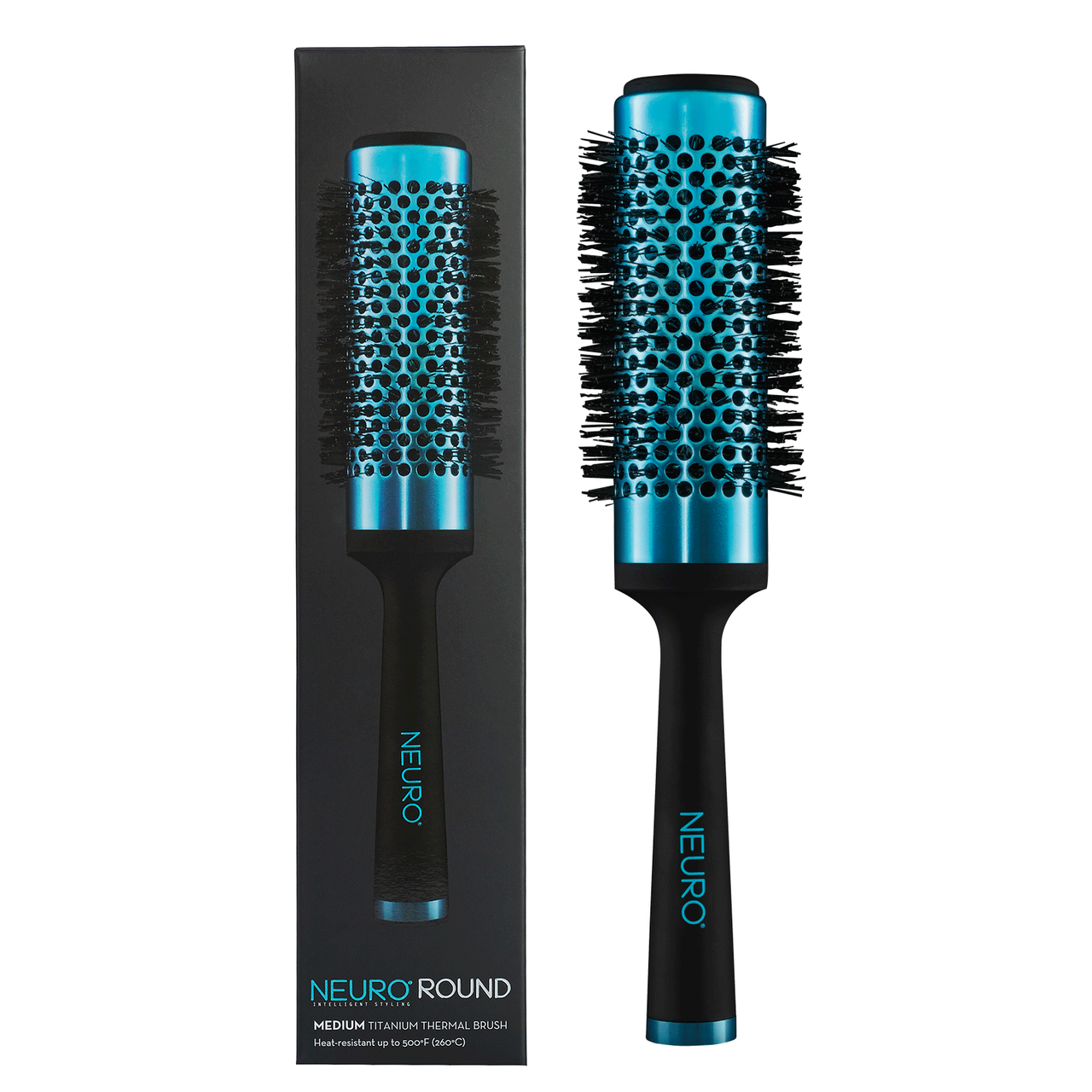 Neuro round titanium thermal brush   medium  53427