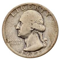 1932-S Argent Washington Quarts 25C ( Fin, F État) Beau Détail - $103.94