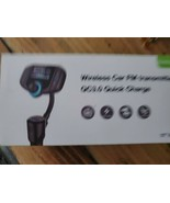 Sumind Wireless Car FM Transmitter QC3.0 Quick Charge - $16.04