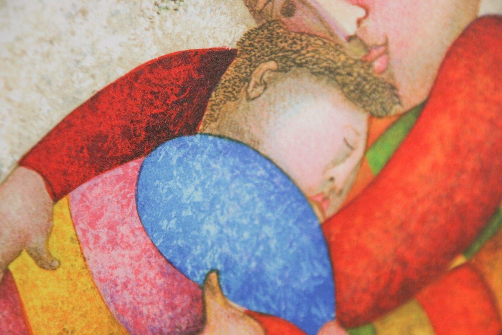 """"""" Amour,Tendresse """" von Graciela Rodo Boulanger Lithographie auf dem Papier Le image 2"""