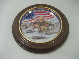 Vintage Framed Decorative Plate The Battle of The Bulge By Jim Griffin - $12.16