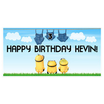 Minions Naked Birthday Banner Personalized Party Decoration - $22.50 - $49.00